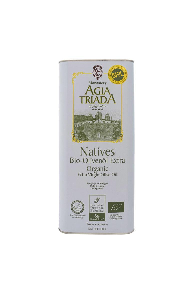 Оливковое масло Extra Virgin Органическое, 5 л